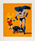 Prints & Multiples:Contemporary, Mel Ramos (1935-2018). Batman, Robin, and the Batmobile, 1989. Screenprint in colors on paper. 35-1/2 x 30 inches (90.2 ...