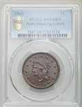 Large Cents, 1843 1C Petite Head, Large Letters, N-4, R.1, MS64 Brown PCGS....