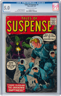 Tales of Suspense #1 (Marvel, 1959) CGC VG/FN 5.0 Cream to off-white pages