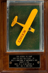 Neil Armstrong's Model of the Plane Used for His First Solo Flight Directly From The Armstrong Family Collection™