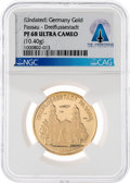Explorers:Space Exploration, Passau-Dreiflussestadt Gold Token PF68 ULTRA CAMEO NGC Directly From The Armstrong Family Collection™, CAG Certified....