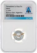 Explorers:Space Exploration, Club de Planeadores La Plata Pin Directly From The Armstrong Family Collection™, CAG Certified....