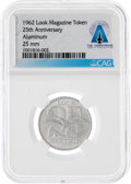 Explorers:Space Exploration, Medals: 1962 25th Anniversary LOOK Magazine Token Directly From The Armstrong Family Collection™, CAG Certified....