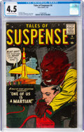 Silver Age (1956-1969):Science Fiction, Tales of Suspense #4 (Marvel, 1959) CGC VG+ 4.5 Off-white to whitepages....