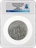 Explorers:Space Exploration, Medals: 1970-Dated 350th Anniversary of the Pilgrim Landing Medal, MS66 NGC, Directly From The Armstrong Family Collection...