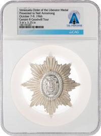 "Gemini Goodwill Tour: Venezuela Order of the Liberator ""Breast Star"" Medal, Directly From The Armstrong Family..."