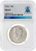 Explorers, Coins: 1965 50¢ MS63 NGC Kennedy Half Dollar Directly From The Armstrong Family Collection™, CAG Certified. ...
