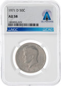 Explorers, Coins: 1971-D 50¢ AU58 NGC Kennedy Half Dollar Directly From The Armstrong Family Collection™, CAG Certified. ...
