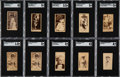 Non-Sport Cards:Lots, 1887-1890 N-Series Actors & Actresses Tobacco card Collection (150+). ...