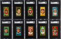 Baseball Cards:Sets, 1911 T205 Gold Border Complete Set (208) Plus Eight Extras....