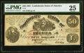 Confederate Notes:1861 Issues, T14 $50 1861 PF-6 Cr. 75 PMG Very Fine 25.. ...