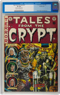 Golden Age (1938-1955):Horror, Tales From the Crypt #33 Double Cover (EC, 1952) CGC VF 8.0 Creamto off-white pages....