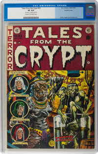 Tales From the Crypt #33 Double Cover (EC, 1952) CGC VF 8.0 Cream to off-white pages