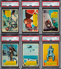 Non-Sport Cards:Sets, 1963 Topps Astronauts High Grade Complete Set (55)....