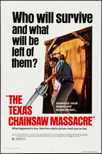 """The Texas Chainsaw Massacre (New Line, R-1980). Folded, Very Fine+. One Sheet (27"""" X 41""""). Horror"""