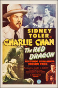 "Movie Posters:Mystery, The Red Dragon (Monogram, 1945). Folded, Very Fine. One Sheet (27""X 41""). Mystery.. ..."