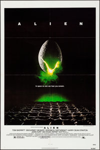 "Alien (20th Century Fox, 1979). Folded, Very Fine. One Sheet (27"" X 41""). Science Fiction"