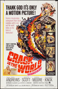 "Crack in the World (Paramount, 1965). Folded, Very Fine-. One Sheet (27"" X 41""). Science Fiction"