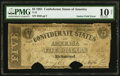 Confederate Notes:1861 Issues, T12 $5 1861 PF-1 Cr. 46 PMG Very Good 10 Net.. ...