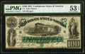 Confederate Notes:1861 Issues, T5 $100 1861 PF-1 Cr. 5 PMG About Uncirculated 53 EPQ.. ...