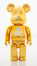 Collectible:Contemporary, BE@RBRICK X mastermind JAPAN. Gold 400%, 2007. Painted cast resin. 10-3/4 x 5 x 3-1/2 inches (27.3 x 12.7 x 8.9 cm). Sta...