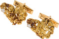 Explorers:Space Exploration, Neil Armstrong's 18K Gold and Diamond Cufflinks in the Shape of the African Continent, Directly From The Armstrong Family Coll...