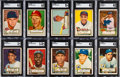 Baseball Cards:Sets, 1952 Topps Baseball Near Low Number Set (306/310) Plus 51 High #'s....