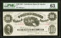 T7 $100 1861 PF-3 Cr. 10 PMG Choice Uncirculated 63