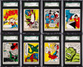 Non-Sport Cards:Lots, 1966 Donruss Marvel Super Heroes Graded Collection (19). ...
