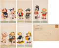 "Non-Sport Cards:Sets, Circa 1930 Campbell Soup Co. ""Campbell Kids"" Place Cards Collection (30) Plus Envelope. ..."