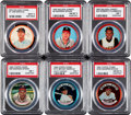 Baseball Cards:Lots, 1962-64 Salada Junket and Topps Coin Collection (118). ...