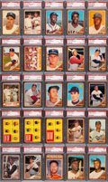 Baseball Cards:Sets, 1962 Topps PSA Graded Complete Set (598) With 333 Cards Grading PSA NM-MT 8....