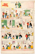 Original Comic Art:Comic Strip Art, Frank Willard Moon Mullins Hand-Colored Sunday Comic Strip Original Art dated 3-30-24 (Chicago Tribune Syndicate, ...
