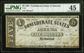 Confederate Notes:1861 Issues, T12 $5 1861 PF-1 Cr. 46 PMG Choice Extremely Fine 45.. ...