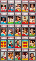 Baseball Cards:Sets, 1963 Topps PSA Graded Complete Set (576) - All Cards Have Been Graded PSA NM-MT 8 and Higher....