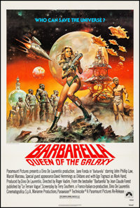"Barbarella (Paramount, R-1977). Very Fine on Linen. One Sheet (27"" X 41""). Boris Vallejo Artwork. Science Fict..."