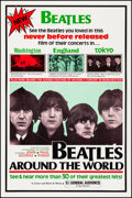 "Movie Posters:Rock and Roll, Beatles: Around the World (Film Shows, Inc., 1970). Very Fine on Linen. One Sheet (27.5"" X 41""). Rock and Roll.. ..."
