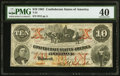 Confederate Notes:1861 Issues, T23 $10 1861 PF-1 Cr. 153 PMG Extremely Fine 40.. ...