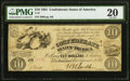Confederate Notes:1861 Issues, T27 $10 1861 PF-1 Cr. 221 PMG Very Fine 20.. ...
