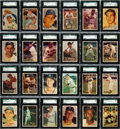 Baseball Cards:Sets, 1957 Topps Baseball Graded Near Set (396/407) With 3 Checklists, 3 Contest Cards and Bakep Error card (403 cards total)....