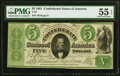 Confederate Notes:1861 Issues, T33 $5 1861 PF-19 Cr. 257b PMG About Uncirculated 55 EPQ.. ...