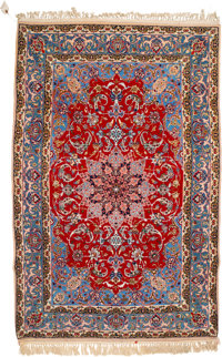 An Isfahan Rug, Isfahan, Persia, mid-20th century 68 x 42-1/2 inches (172.7 x 108.0 cm)