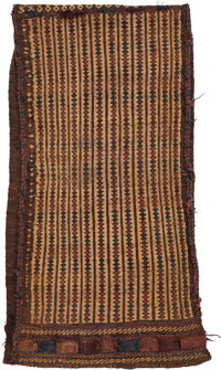 A Belouch Textile Bag, Balochistan, Pakistan, early 20th century 35-1/2 x 19-1/2 inches (90.2 x 49.5 cm)