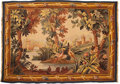 Textiles, An Aubusson-Style Wool Tapestry, mid-20th century. 70-1/2 x 49-1/4 inches (179.1 x 125.1 cm). ...