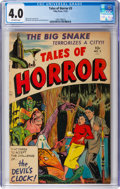 Golden Age (1938-1955):Horror, Tales of Horror #3 (Toby Publishing, 1952) CGC VG 4.0 Off-white pages....