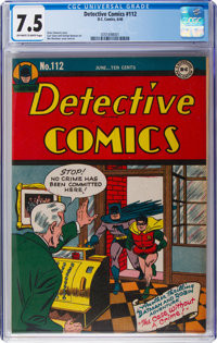 Detective Comics #112 (DC, 1946) CGC VF- 7.5 Off-white to white pages