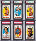 Basketball Cards:Lots, 1969 Topps Basketball PSA Graded Collection (6)....
