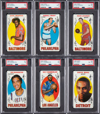 1969 Topps Basketball PSA Graded Collection (6)