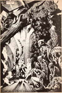 Bernie Wrightson Abyss: A Promotional Portfolio Signed Limited Edition Plate #199/500 (1970)