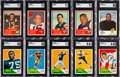 Football Cards:Sets, 1960, 1961 and 1963 Fleer Football Complete Sets (3)....